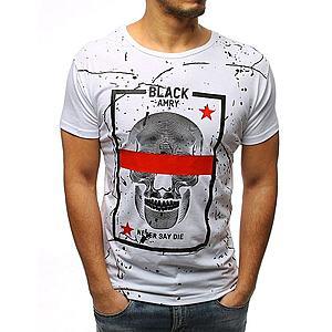 Perfektné biele tričko s lebkou vyobraziť