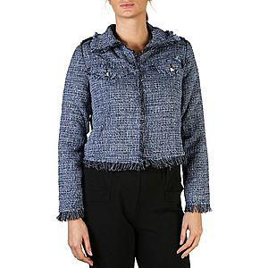 Guess Jeans dámska bunda Farba: Modrá, Veľkosť: XS vyobraziť