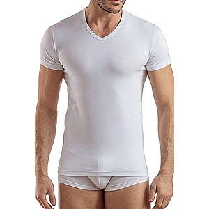 Pánske tričko V neck biele vyobraziť