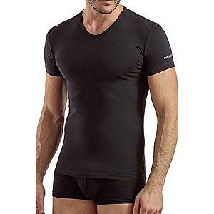 Pánske tričko V neck čierne vyobraziť