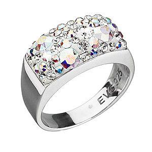 Strieborný prsteň s krištálmi Swarovski ab efekt 35014.2 vyobraziť