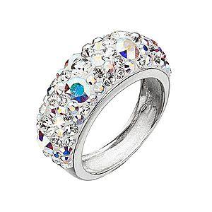 Strieborný prsteň s krištálmi Swarovski ab efekt 35031.2 vyobraziť