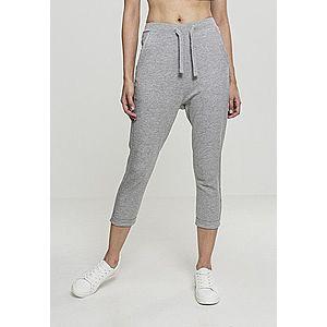 Urban Classics Ladies Open Edge Terry Turn Up Pants Grey - XL vyobraziť