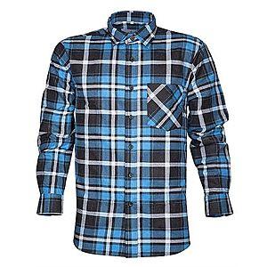 Ardon Pracovná flanelová košeľa Jonah - Modrá | 39-40 vyobraziť