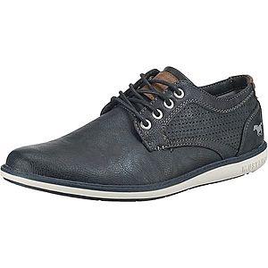MUSTANG Šnurovacie topánky námornícka modrá / hnedé vyobraziť