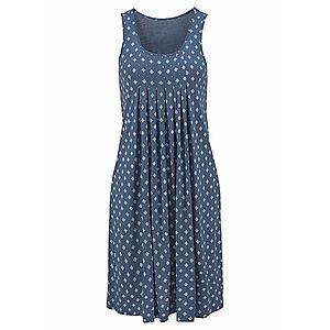 BEACH TIME Plážové šaty modrá / biela vyobraziť