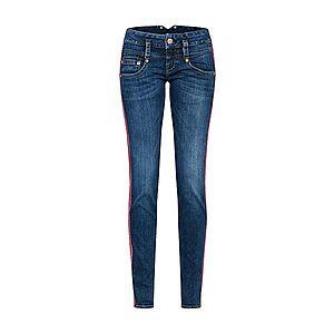 džínsová modrá/červená vyobraziť