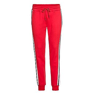 Urban Classics Nohavice '3-Tone Side Strip Terry Pants' námornícka modrá / ohnivo červená / biela vyobraziť