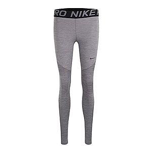 NIKE Športové nohavice čierna / sivá melírovaná vyobraziť