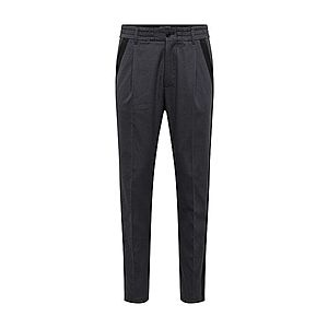DRYKORN Plisované nohavice tmavosivá / čierna vyobraziť