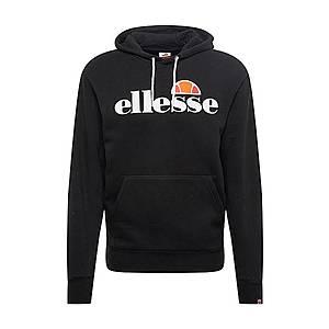 ELLESSE Mikina 'Gottero' čierna / biela / oranžovo červená / oranžová vyobraziť