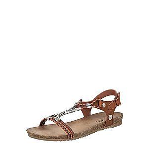 MUSTANG Remienkové sandále gaštanová vyobraziť