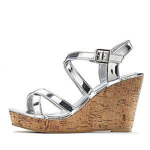 LASCANA Remienkové sandále strieborná vyobraziť