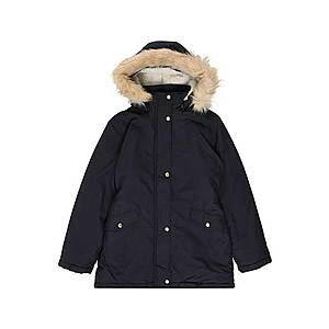 Tmavomodrá zimná bunda s kožušinou vyobraziť