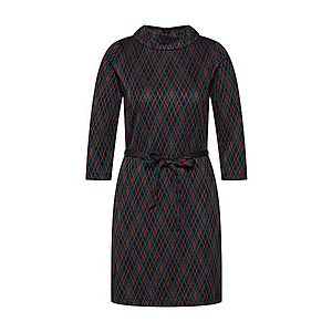 King Louie Šaty 'Dita Dress Argyle' petrolejová / oranžovo červená / čierna vyobraziť
