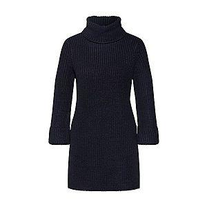 Čierne pletené rolákové šaty vyobraziť