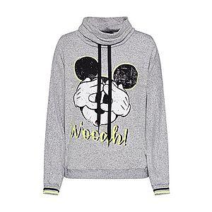 PRINCESS GOES HOLLYWOOD Mikina 'Disney mickey wooah sweater' sivá vyobraziť