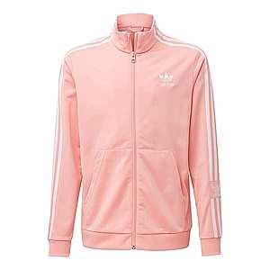 ADIDAS ORIGINALS Tepláková bunda biela / ružová vyobraziť