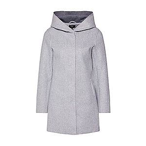 ONLY Prechodný kabát 'ONLSIRI BONDED HOOD COAT' sivá melírovaná vyobraziť