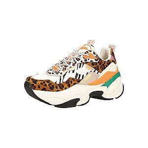 BUFFALO Nízke tenisky zelená / oranžová / čierna / biela / hnedá vyobraziť
