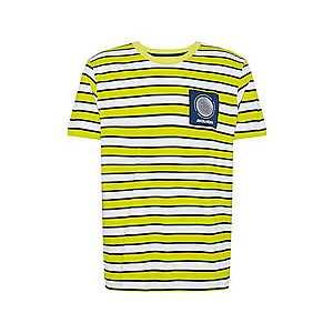 JACK & JONES Tričko 'RELIEF ' žlté vyobraziť