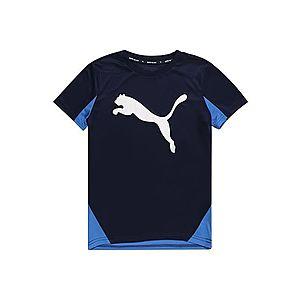 PUMA Tričko čierna / modrá vyobraziť