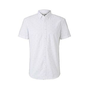 TOM TAILOR DENIM Košeľa biela / čierna vyobraziť