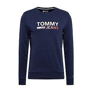 Tommy Jeans Mikina námornícka modrá / biela / červené vyobraziť