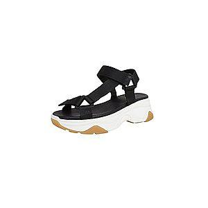 Dámske čierne topánky na platforme - 37 vyobraziť