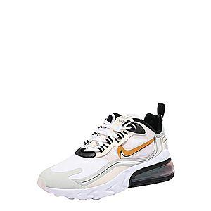 Nike Sportswear Nízke tenisky 'AIR MAX 270 REACT LX' čierna / oranžová / biela vyobraziť