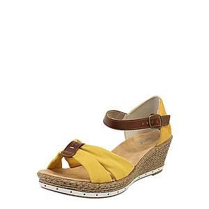 RIEKER Sandále žlté / hnedé vyobraziť
