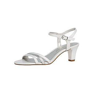 TAMARIS Sandále biela / strieborná vyobraziť