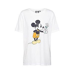 CATWALK JUNKIE Tričko 'Mickey Flower' biela vyobraziť