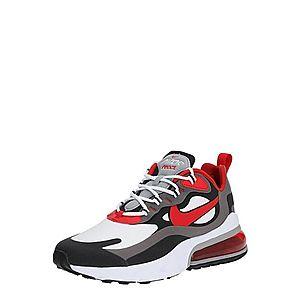 Nike Sportswear Nízke tenisky 'Air Max 270 React' čierna / červená / biela / sivá vyobraziť