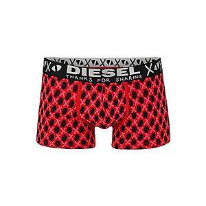 DIESEL Boxerky 'UMBX-DAMIEN BOXER-SHORTS' čierna / červené / ružová vyobraziť