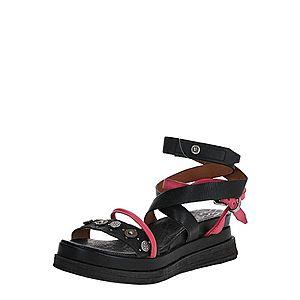 A.S.98 Remienkové sandále 'LAGOS' čierna / ružová vyobraziť