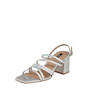 ONLY Remienkové sandále 'AMANDA' strieborná vyobraziť