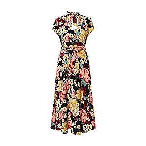 King Louie Letné šaty 'Shiloh Dress Carioca' čierna / zmiešané farby vyobraziť