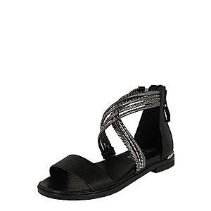 MJUS Remienkové sandále 'GRAMMETAL' strieborná / čierna vyobraziť