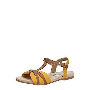 TOM TAILOR Sandále žltá / hnedá vyobraziť