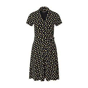 King Louie Košeľové šaty 'Emmy' béžová / čierna / svetlozelená vyobraziť