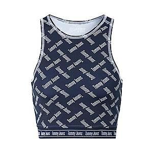 Tommy Jeans Top námornícka modrá / biela vyobraziť