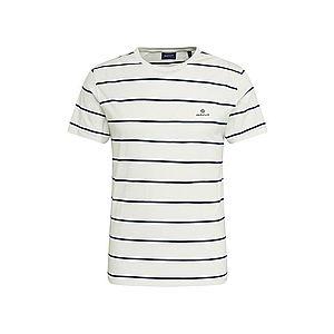 GANT Tričko biela / námornícka modrá vyobraziť