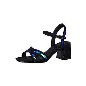 TAMARIS Remienkové sandále čierna / modré vyobraziť