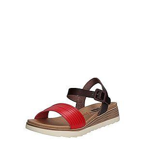 Xti Remienkové sandále červené / čierna vyobraziť