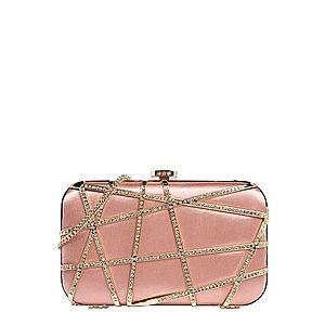 Forever New Listová kabelka 'STELLA' strieborná / ružová vyobraziť