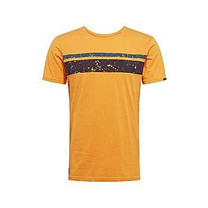 Ragwear Tričko 'HAKE ORGANIC' čierna / žlté / modré vyobraziť
