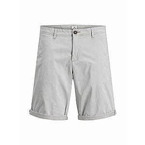 JACK & JONES Chino nohavice sivá vyobraziť
