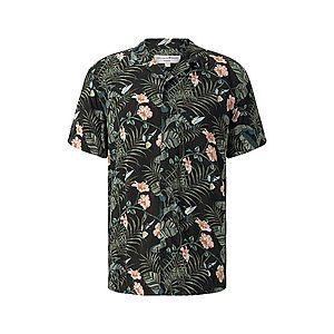 TOM TAILOR DENIM Košeľa čierna / marhuľová / zelená vyobraziť