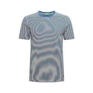 UNITED COLORS OF BENETTON Tričko biela / modré vyobraziť